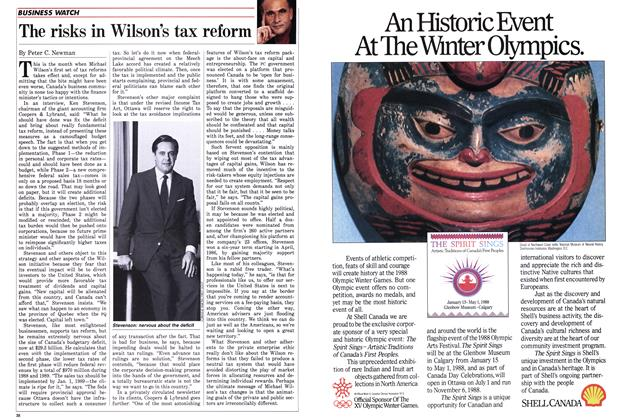 Article Preview: The risks in Wilson's tax reform, January 1988 | Maclean's
