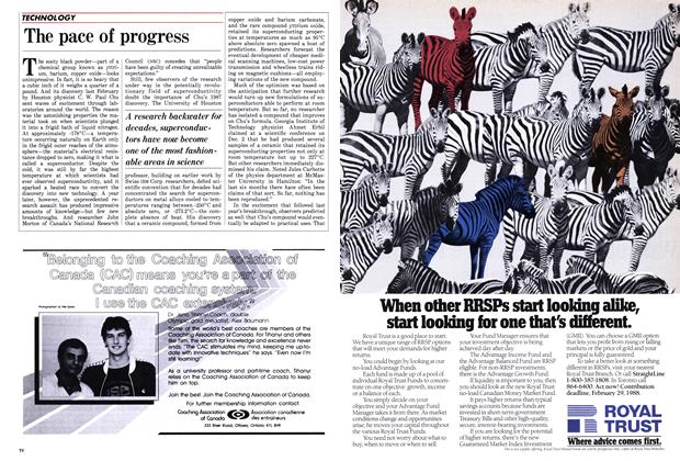 Article Preview: The pace of progress, January 1988 | Maclean's