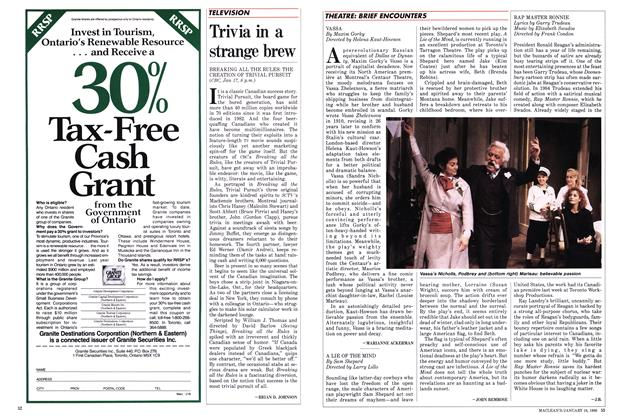 Article Preview: Trivia in a strange brew, January 1988 | Maclean's