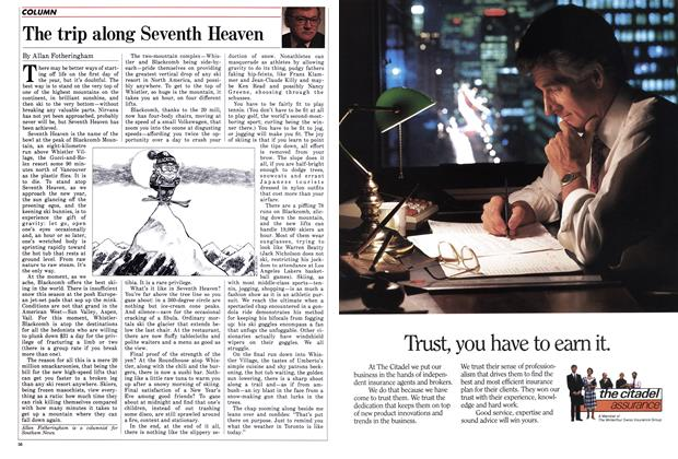 Article Preview: The trip along Seventh Heaven, January 1988 | Maclean's
