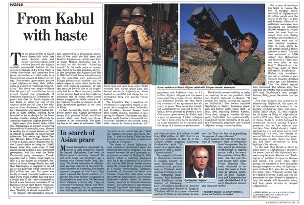 Article Preview: From Kabul with haste, January 1988 | Maclean's