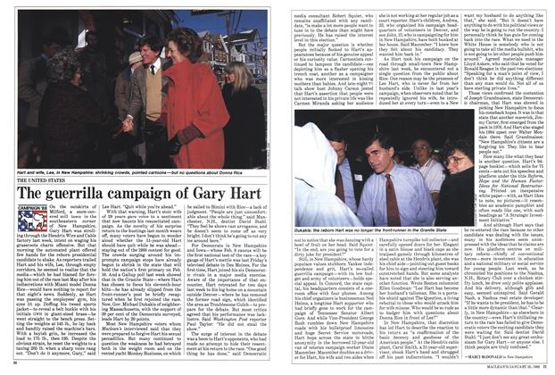 Article Preview: The guerrilla campaign of Gary Hart, January 1988 | Maclean's