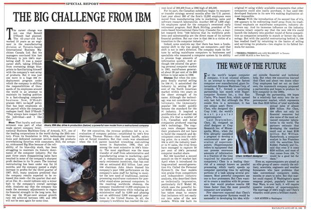 Article Preview: THE BIG CHALLENGE FROM IBM, January 1988 | Maclean's