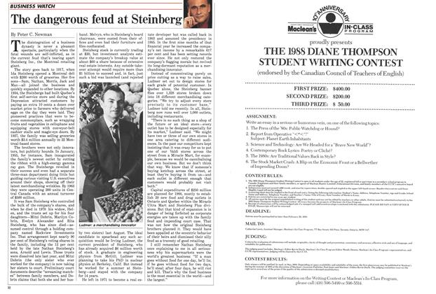 Article Preview: The dangerous feud at Steinberg, January 1988   Maclean's