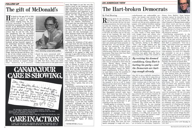 Article Preview: The gift of McDonald's, January 1988 | Maclean's