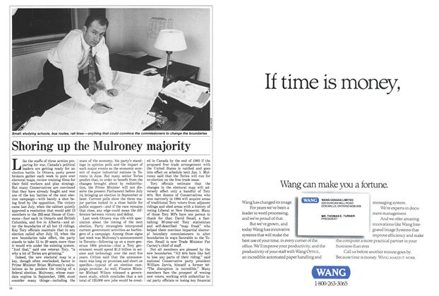 Article Preview: Shoring up the Mulroney majority, January 1988 | Maclean's