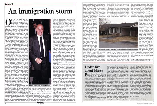 Article Preview: An immigration storm, February 1988 | Maclean's