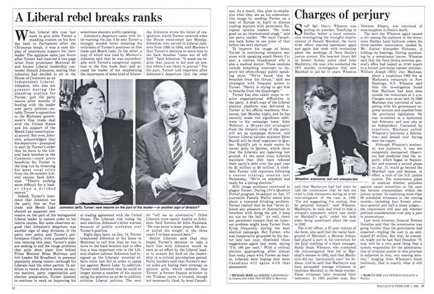 Article Preview: Charges of perjury, February 1988   Maclean's