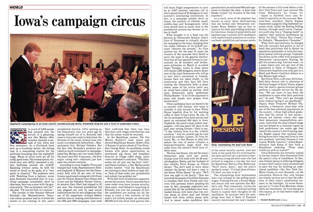 Article Preview: Iowa's campaign circus, February 1988 | Maclean's