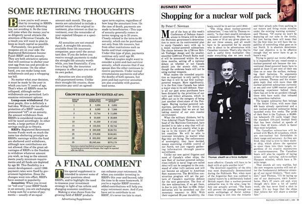 Article Preview: Shopping for a nuclear wolf pack, February 1988   Maclean's