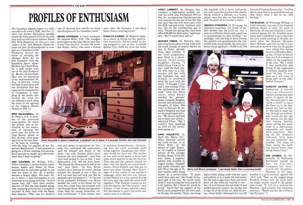 Article Preview: PROFILES OF ENTHUSIASM, February 1988   Maclean's