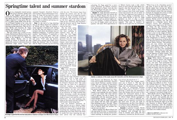 Article Preview: Springtime talent and summer stardom, February 1988 | Maclean's