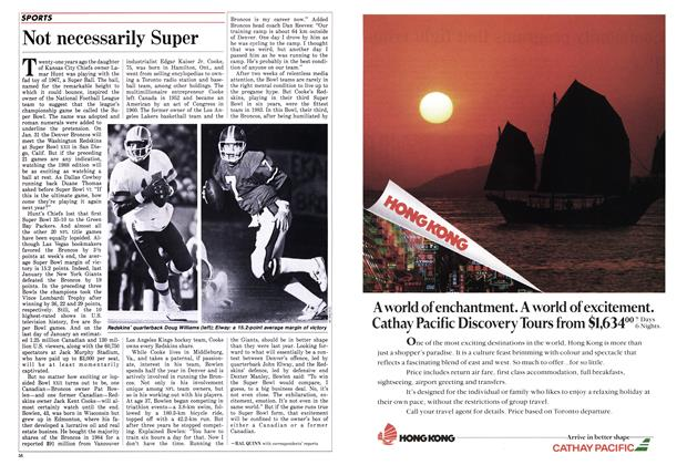 Article Preview: Not necessarily Super, February 1988 | Maclean's