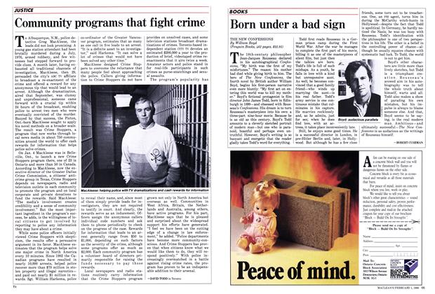 Article Preview: Community programs that fight crime, February 1988 | Maclean's