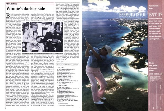 Article Preview: Winnie's darker side, February 1988 | Maclean's