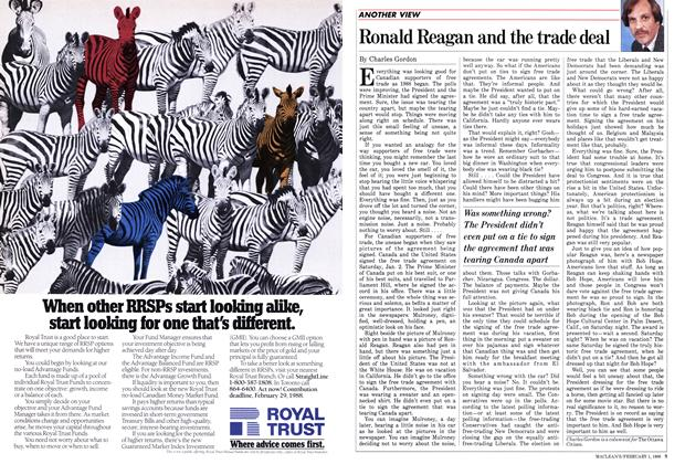 Article Preview: Ronald Reagan and the trade deal, February 1988 | Maclean's