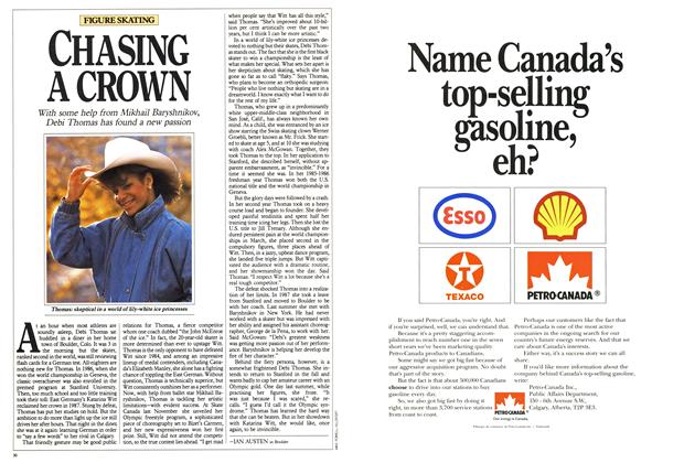 Article Preview: CHASING A CROWN, February 1988 | Maclean's