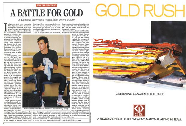 Article Preview: A BATTLE FOR GOLD, February 1988   Maclean's