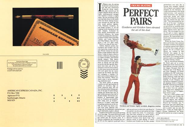 Article Preview: PERFECT PAIRS, February 1988 | Maclean's
