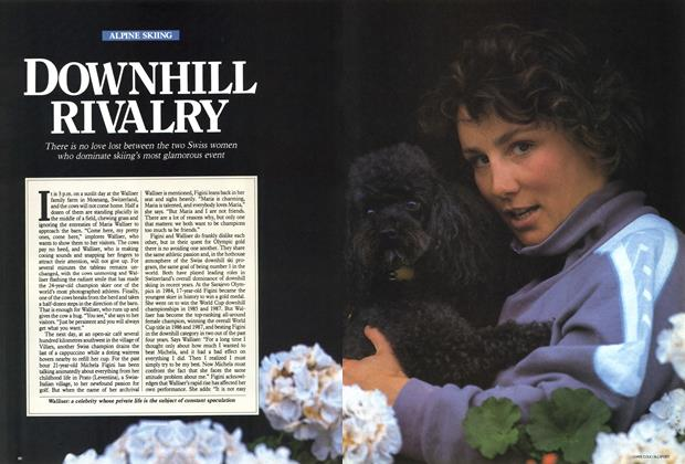 Article Preview: DOWNHILL RIVALRY, February 1988 | Maclean's