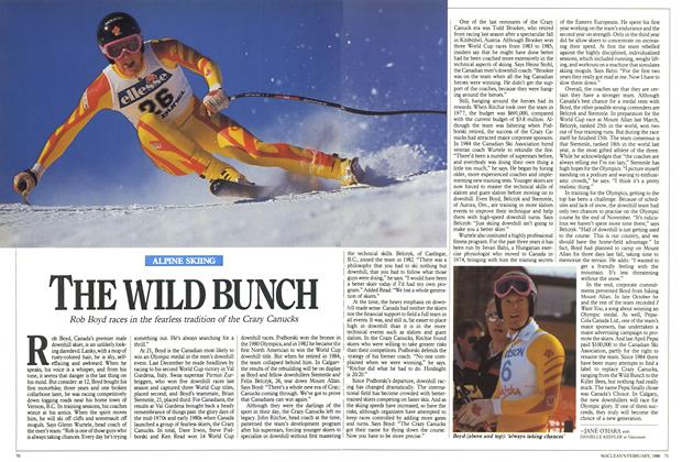 Article Preview: THE WILD BUNCH, February 1988 | Maclean's