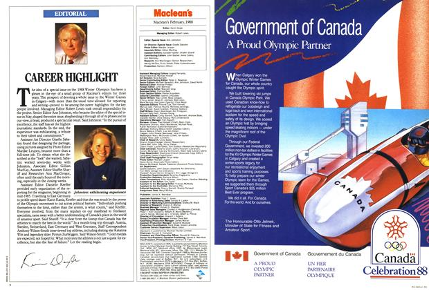Article Preview: CAREER HIGHLIGHT, February 1988 | Maclean's