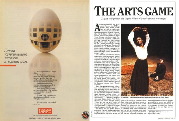 Article Preview: THE ARTS GAME, February 1988 | Maclean's