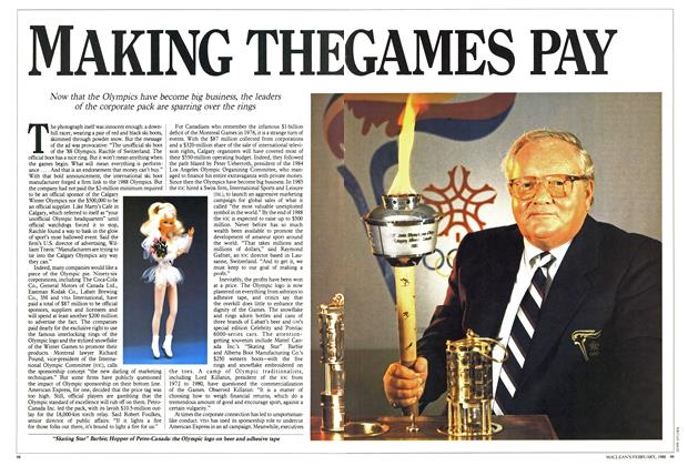Article Preview: MAKING THE GAMES PAY, February 1988 | Maclean's