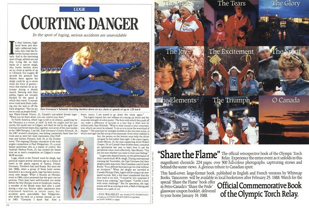 Article Preview: COURTING DANGER, February 1988 | Maclean's