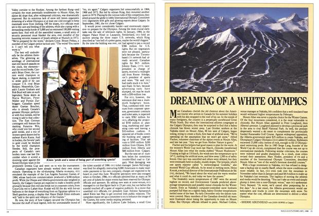 Article Preview: DREAMING OF A WHITE OLYMPICS, February 1988 | Maclean's