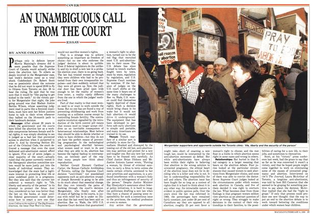 Article Preview: AN UNAMBIGUOUS CALL FROM THE COURT, February 1988 | Maclean's