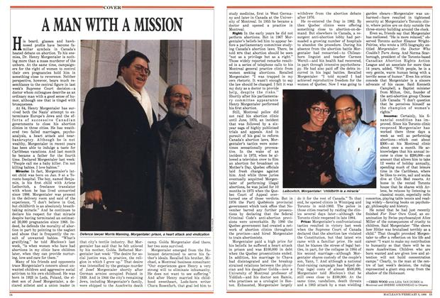 Article Preview: A MAN WITH A MISSION, February 1988 | Maclean's
