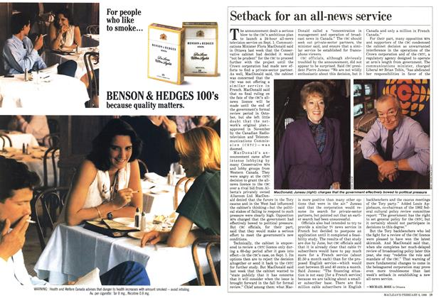 Article Preview: Setback for an all-news service, February 1988 | Maclean's