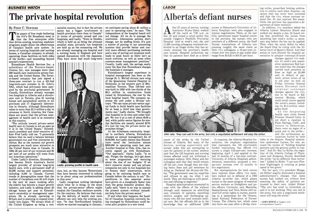 Article Preview: Alberta's defiant nurses, February 1988 | Maclean's