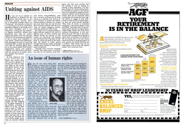 Article Preview: Uniting against AIDS, February 1988 | Maclean's