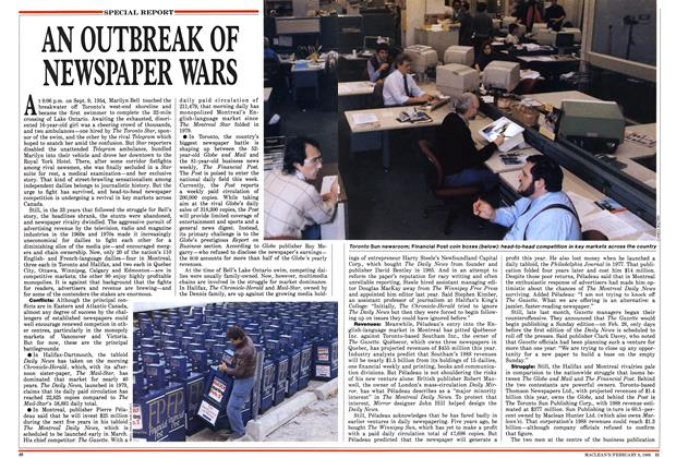 Article Preview: AN OUTBREAK OF NEWSPAPER WARS, February 1988 | Maclean's