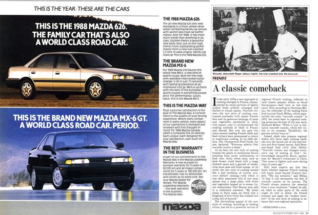Article Preview: A classic comeback, February 1988   Maclean's