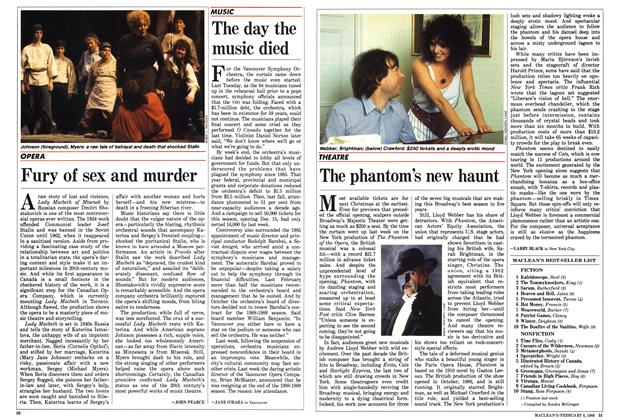 Article Preview: The day the music died, February 1988 | Maclean's