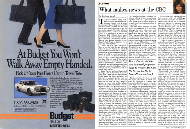 Article Preview: What makes news at the CBC, February 1988 | Maclean's