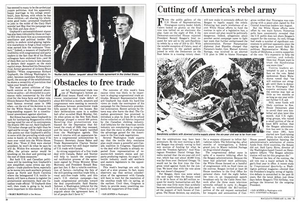 Article Preview: Cutting off America's rebel army, February 1988 | Maclean's