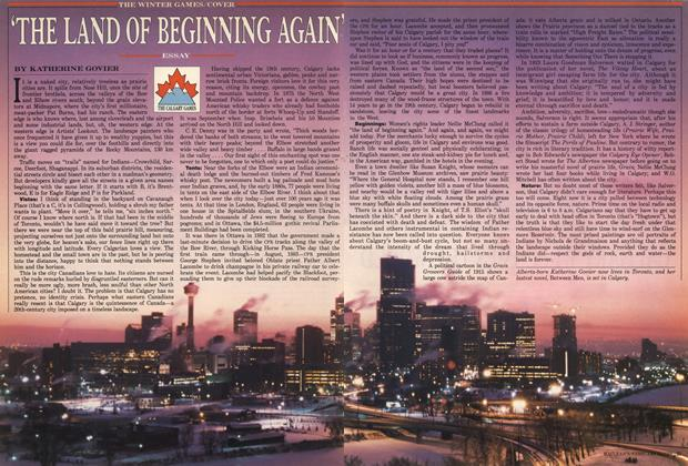 Article Preview: 'THE LAND OF BEGINNING AGAIN', February 1988 | Maclean's