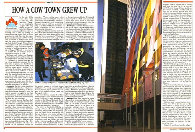 Article Preview: HOW A COW TOWN GREW UP, February 1988 | Maclean's