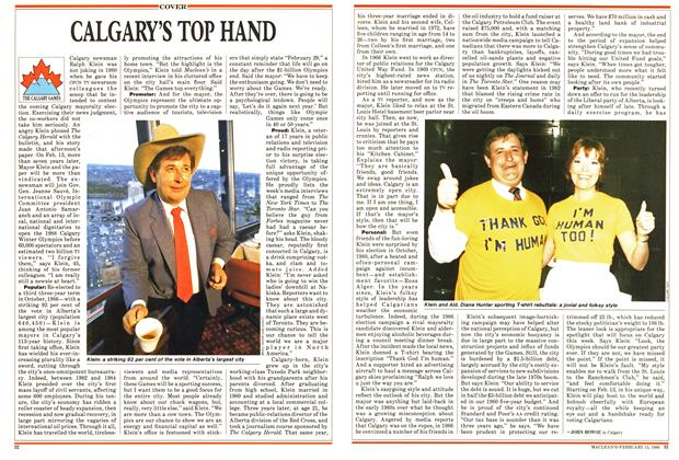 Article Preview: CALGARY'S TOP HAND, February 1988 | Maclean's