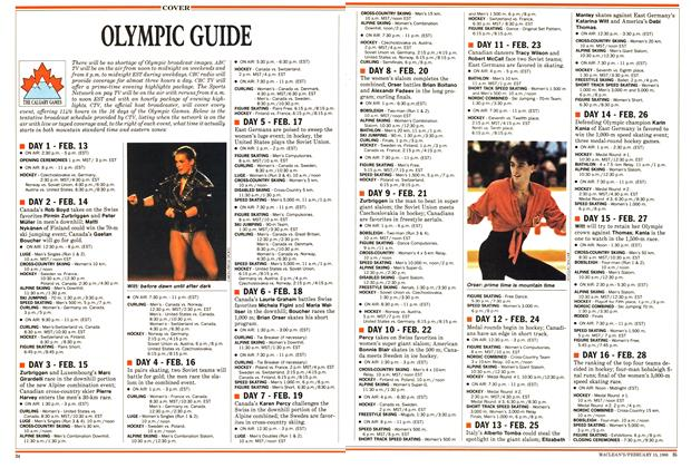 Article Preview: OLYMPIC GUIDE, February 1988 | Maclean's