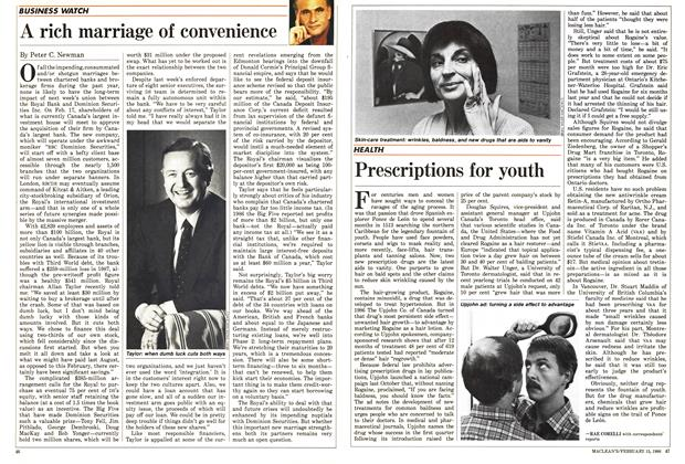 Article Preview: Prescriptions for youth, February 1988 | Maclean's