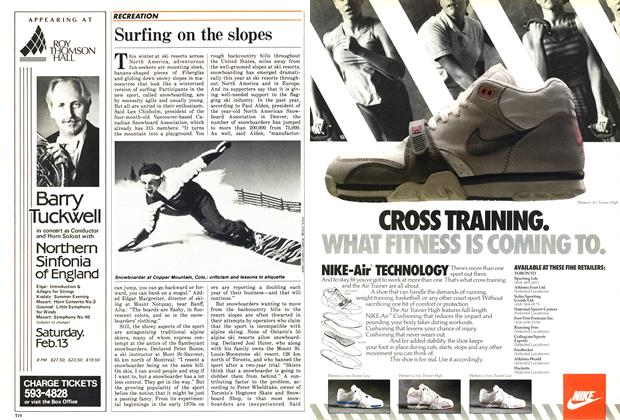 Article Preview: Surfing on the slopes, February 1988 | Maclean's