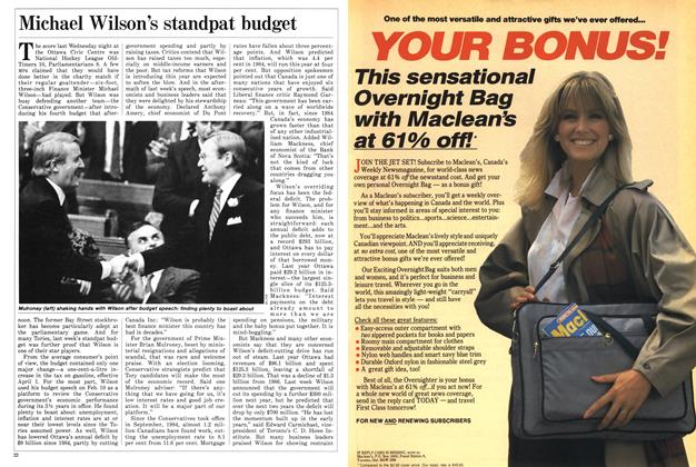 Article Preview: Michael Wilson's standpat budget, February 1988 | Maclean's