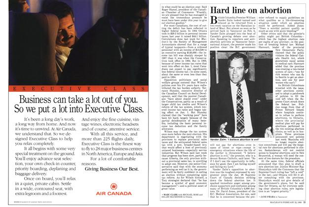 Article Preview: Hard line on abortion, February 1988 | Maclean's