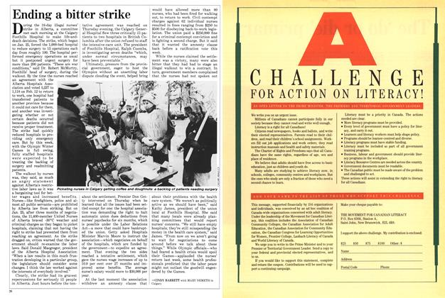 Article Preview: Ending a bitter strike, February 1988 | Maclean's