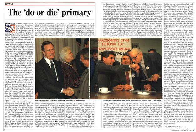 Article Preview: The 'do or die' primary, February 1988 | Maclean's